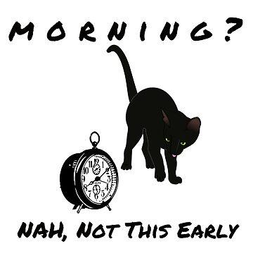 Black cat avoiding morning by DAscroft