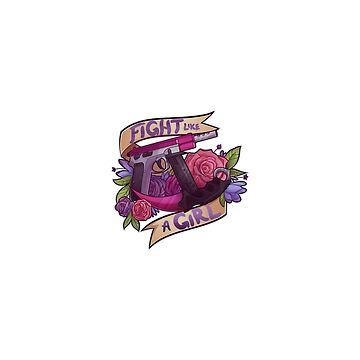 Fight Like A Girl | STICKER MUG & MORE  by cruxdesigns