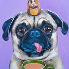 The Pug and Hamster by Victoria Stanway