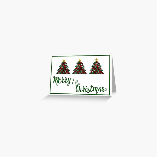Merry CHristmas Christmas Tree 1 Greeting Card