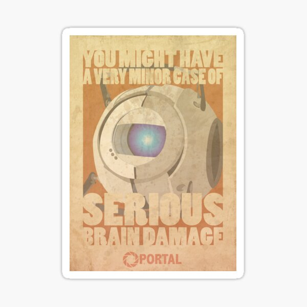 Portal Propaganda Poster - Wheatley Sticker