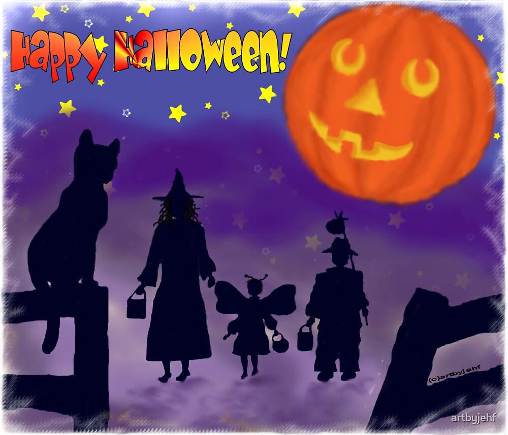 Halloween Moon by artbyjehf