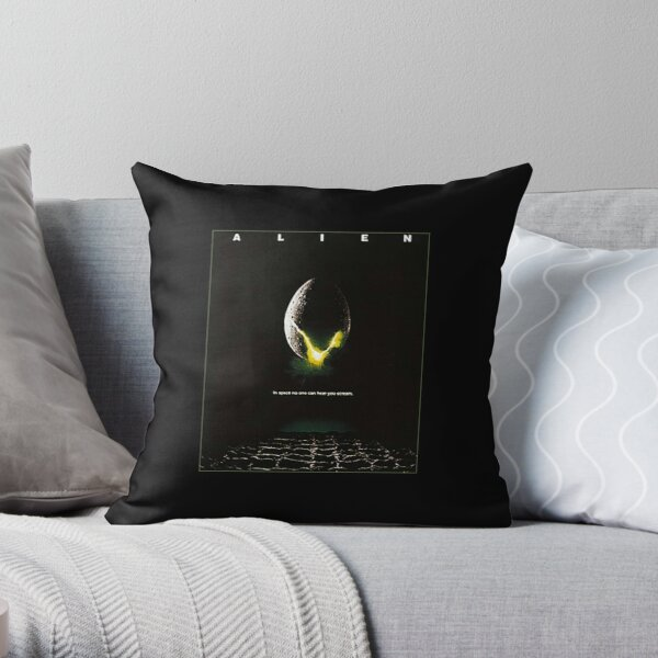 Alien. Egg, Movie, Film, Poster. Throw Pillow