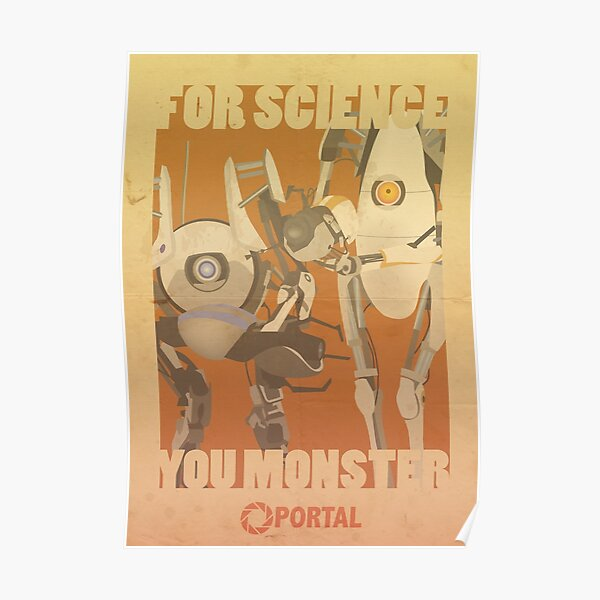 Portal Propaganda Poster - ATLAS & P-Body - Portal 2 Poster