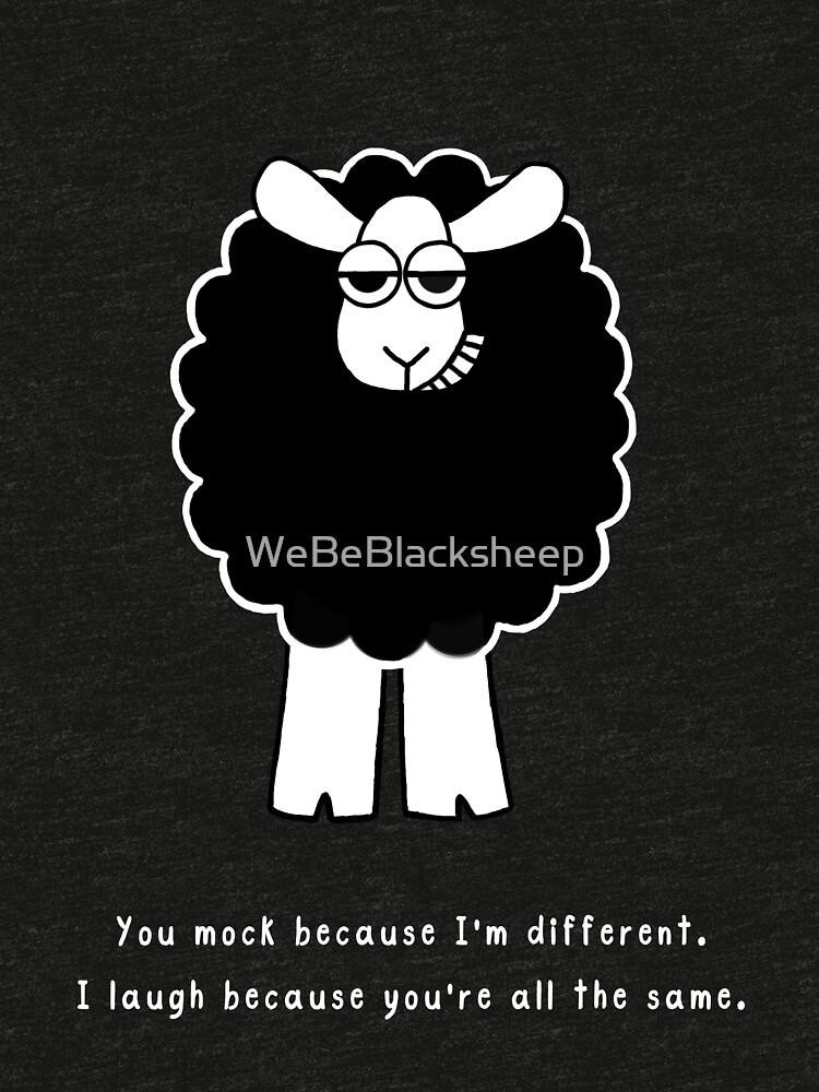 Mock Me Sheep - white text by WeBeBlacksheep