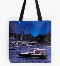 Midnight Sail Boats  Tote Bag