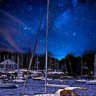 Midnight Sail Boats  by Nancy Richard