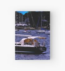 Midnight Sail Boats  Hardcover Journal