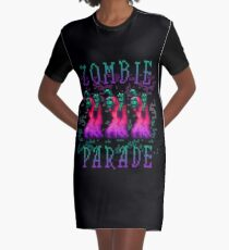 Zombie Parade Graphic T-Shirt Dress