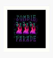 Zombie Parade Art Print