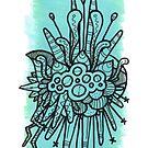 aqua and mint panel with runcible doodle by TakoraTakora