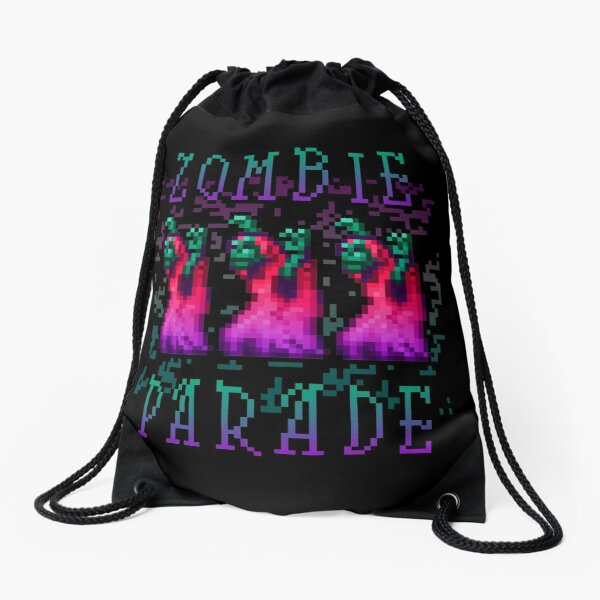 Zombie Parade Drawstring Bag