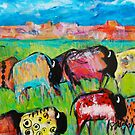 Painted Buffalo  by Sharon Welch