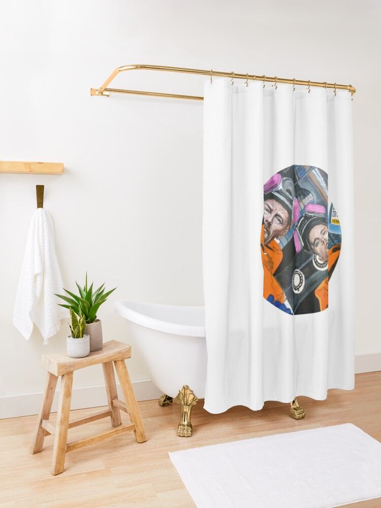 Alternate view of For Every Problem There Is a Solution Shower Curtain