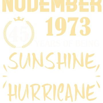 Born in November 1973 45 Years of Being Sunshine Mixed with a Little Hurricane by dragts