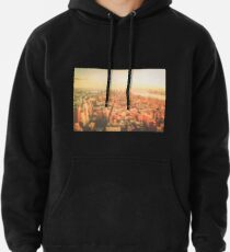 New York City - Skyline at Sunset Pullover Hoodie