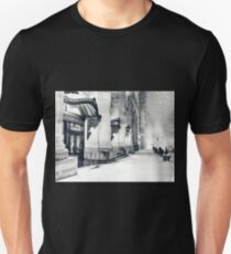 Camiseta unisex Winter Night - Snow Falls in the Big Apple - New York City