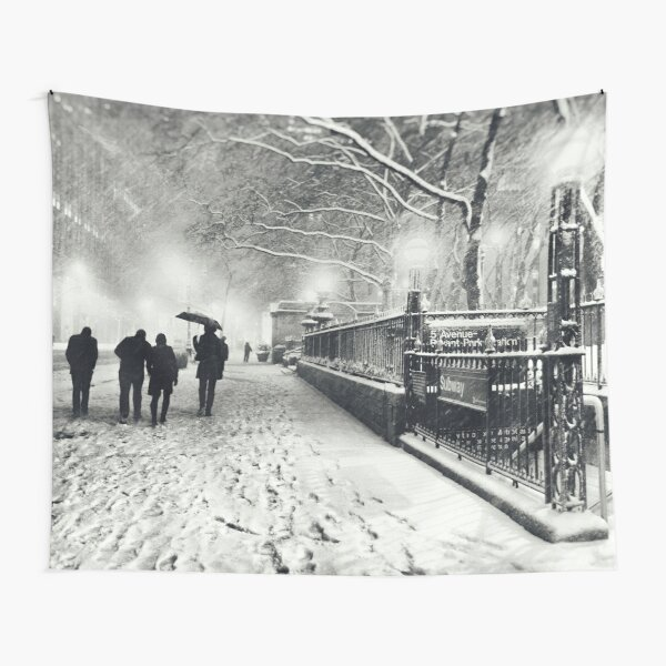 Winter Night - New York City Tapestry