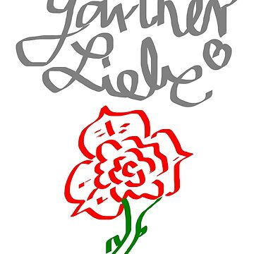Gardener Love Rose Garden Nature Gift Birthday by Johnny1990