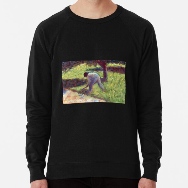 Georges Seurat Peasant with a Hoe Lightweight Sweatshirt