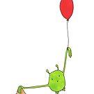 Long armed alien and it's balloon by TakoraTakora