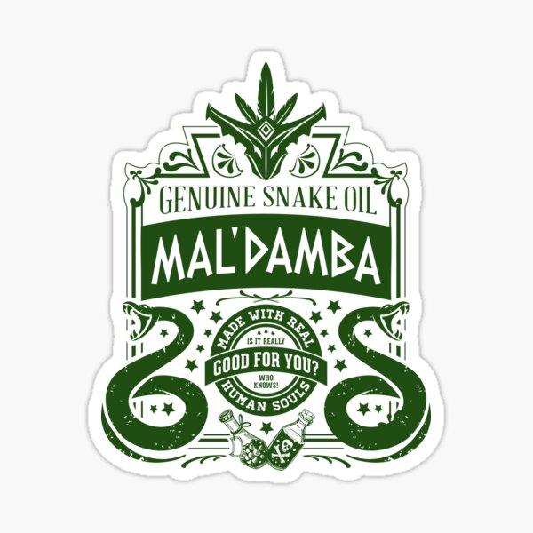 Mal'Damba (dark) Paladins Champion Logotipo Pegatina