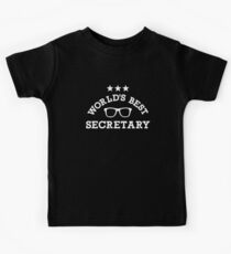 World's best secretary Kids Tee