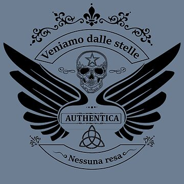Italian Slogan Winged Design by Linkbekka