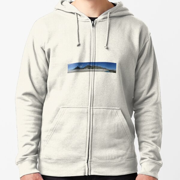 Cape Town, South Africa, Panorama Zipped Hoodie
