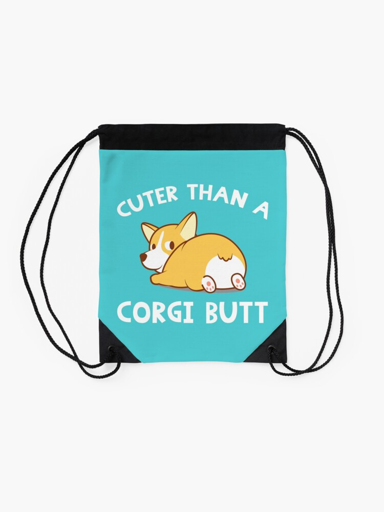 Alternate view of Corgi Butt Drawstring Bag