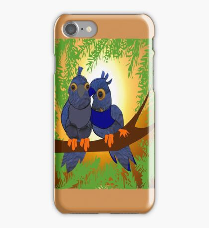 2 little Birds (1912 Views) Happiness is ...experiencing the sun rays together  iPhone Case/Skin