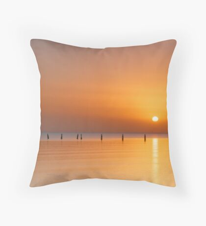 Red Dust Dawn Throw Pillow