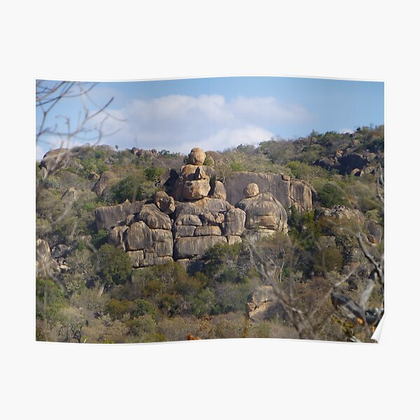 Rock formation, Matobo National Park, Zimbabwe Poster