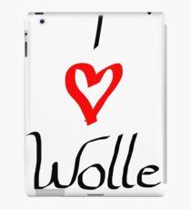 I love wool heart crochet knitting sewing gift hobby birthday iPad Case/Skin