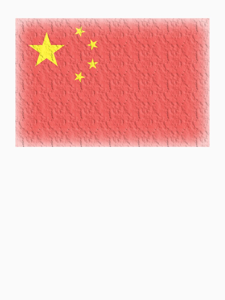 CHINA, FADED CHINESE FLAG, Flag of China, People's Republic of China, China, Pure & Simple, FADED. by TOMSREDBUBBLE