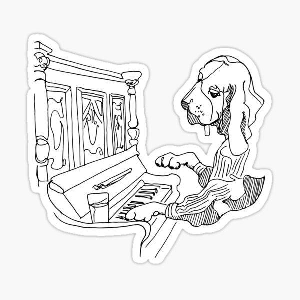 Honky Tonk Hound Dog Sticker