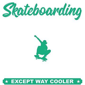 Skateboarding Grandpa Gift T Shirt by PinkDesigns