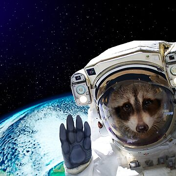 Funny Raccoon Astronaut ⛔ HQ quality by MichailoAvilov