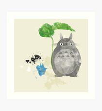 My Neighbor Totoro Giclee Vintage Digital Art  Art Print