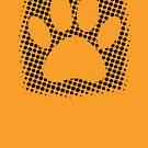 Dog Paw Print With Halftone Background by Almdrs