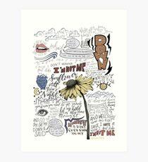 Sonnenblume-lyrische Kunst Kunstdruck