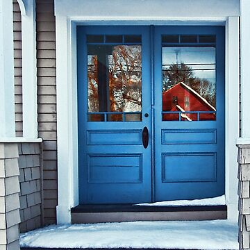 The Blue Doors - Reflections On a Cold Winters Day by rural-guy