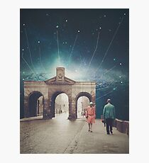 We met as Time Travellers Photographic Print