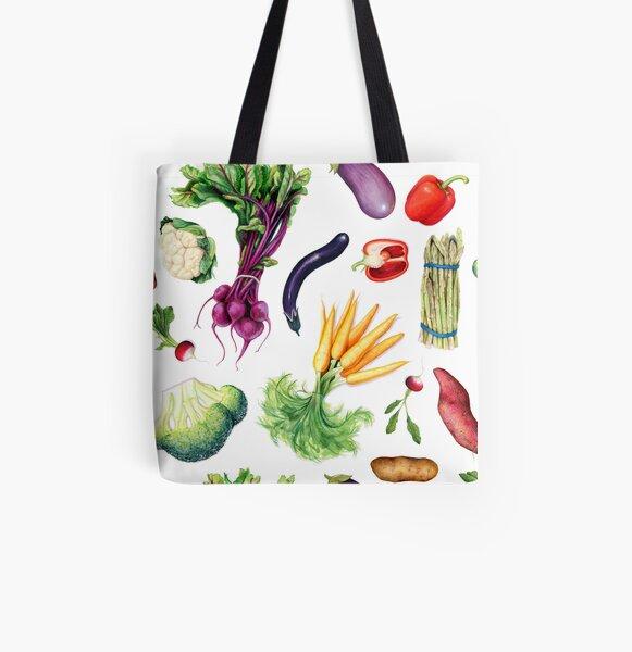 Vivacious Veggies All Over Print Tote Bag