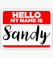 My Name Is... Sandy - Names Tag Hipster Sticker & Shirt Sticker