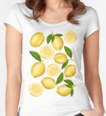Luscious Lemons Women's Fitted Scoop T-Shirt