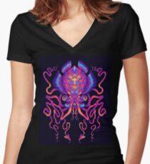 Céphalopode T-shirt col V femme