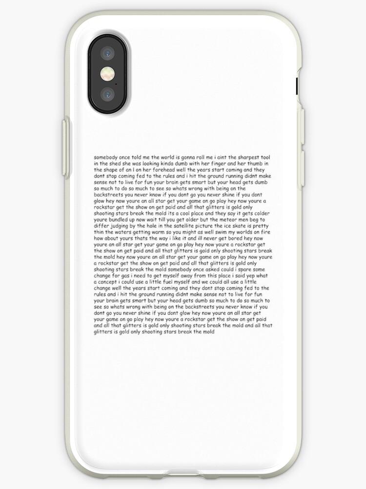 'Smash Mouth - All Star lyrics' iPhone Case by munkedyr123