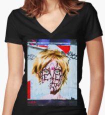 London graffiti wall Women's Fitted V-Neck T-Shirt