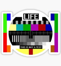 LIFE - This is not a test Sticker